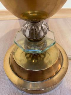 Art Deco Table Lamp Brass and Glass Paris France circa 1930 - 1907733