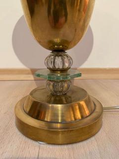 Art Deco Table Lamp Brass and Glass Paris France circa 1930 - 1907734