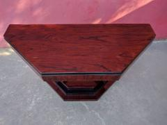 Art Deco Triangular Console with Ebony Accents - 1352518