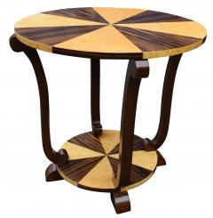 Art Deco Two Tier French Centre Table In Macassar Ebony Maple - 1105971