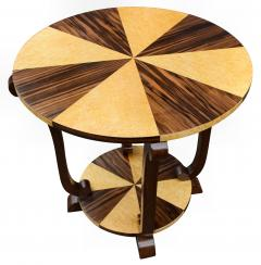 Art Deco Two Tier French Centre Table In Macassar Ebony Maple - 1105972