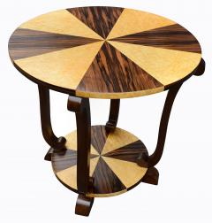 Art Deco Two Tier French Centre Table In Macassar Ebony Maple - 1105974