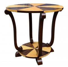Art Deco Two Tier French Centre Table In Macassar Ebony Maple - 1105975