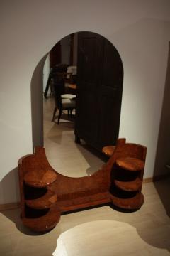 Art Deco Vanity Table Amboyna Roots France circa 1925 - 1017226