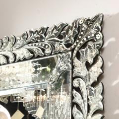 Art Deco Venetian Etched Beveled Mirror w Stylized Floral Motifs - 1949912