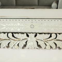 Art Deco Venetian Etched Beveled Mirror w Stylized Floral Motifs - 1949923