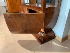 Art Deco Vitrine Walnut Veneer Three Sides Glassed France circa 1930 - 1481437