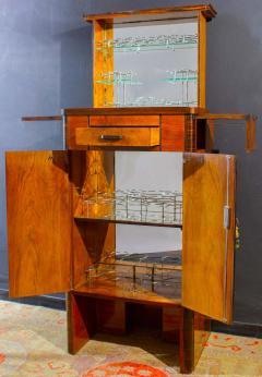 Art Deco Walnut Cocktail Dry Bar Cabinet Italy 1930s - 1445790