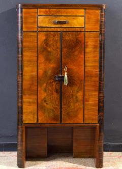 Art Deco Walnut Cocktail Dry Bar Cabinet Italy 1930s - 1445791