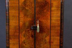 Art Deco Walnut Cocktail Dry Bar Cabinet Italy 1930s - 1445797