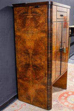Art Deco Walnut Cocktail Dry Bar Cabinet Italy 1930s - 1445805