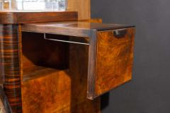 Art Deco Walnut Cocktail Dry Bar Cabinet Italy 1930s - 1445806