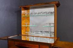 Art Deco Walnut Cocktail Dry Bar Cabinet Italy 1930s - 1445807