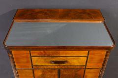 Art Deco Walnut Cocktail Dry Bar Cabinet Italy 1930s - 1445808