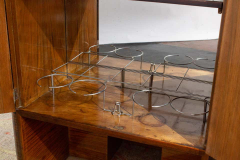 Art Deco Walnut Cocktail Dry Bar Cabinet Italy 1930s - 1445812