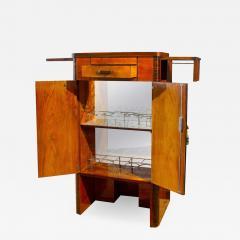 Art Deco Walnut Cocktail Dry Bar Cabinet Italy 1930s - 1446600