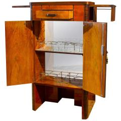 Art Deco Walnut Cocktail Dry Bar Cabinet Italy 1930s - 1783792