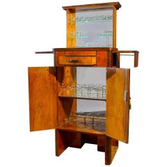Art Deco Walnut Cocktail Dry Bar Cabinet Italy 1930s - 1783793