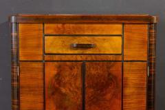 Art Deco Walnut Cocktail Dry Bar Cabinet Italy 1930s - 1783795