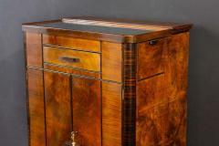 Art Deco Walnut Cocktail Dry Bar Cabinet Italy 1930s - 1783796