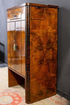 Art Deco Walnut Cocktail Dry Bar Cabinet Italy 1930s - 1783797
