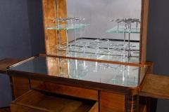 Art Deco Walnut Cocktail Dry Bar Cabinet Italy 1930s - 1783801