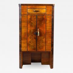 Art Deco Walnut Cocktail Dry Bar Cabinet Italy 1930s - 1785393