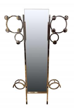 Art Deco Wardrobe Chromed Steeltubes and Mirror France circa 1930 - 1484572