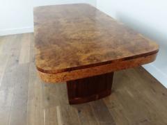 Art Deco karelian birch and walnut dining table - 1942892