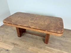 Art Deco karelian birch and walnut dining table - 1942895