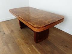 Art Deco karelian birch and walnut dining table - 1942898