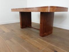 Art Deco karelian birch and walnut dining table - 1942900