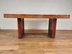 Art Deco karelian birch and walnut dining table - 1942908