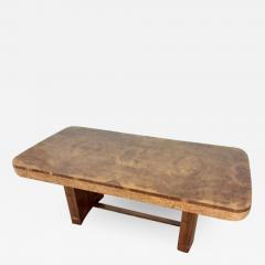 Art Deco karelian birch and walnut dining table - 1943397