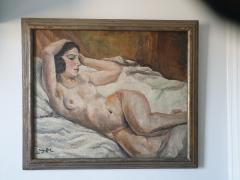 Art Deco oil on canvas Reclining Nude by Jean Saint Paul 1897 1974  - 2051134