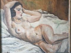 Art Deco oil on canvas Reclining Nude by Jean Saint Paul 1897 1974  - 2051135
