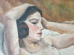 Art Deco oil on canvas Reclining Nude by Jean Saint Paul 1897 1974  - 2051136