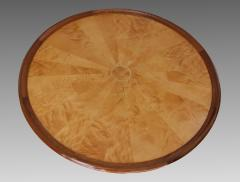 Art Deco pedestal table in sycamore France around 1950 - 1489926