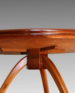 Art Deco pedestal table in sycamore France around 1950 - 1489927