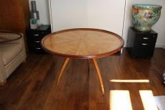 Art Deco pedestal table in sycamore France around 1950 - 1489939