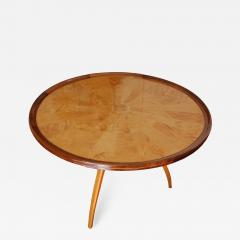 Art Deco pedestal table in sycamore France around 1950 - 1490147