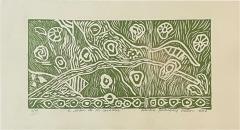 Art Green Snails Caracoles Nature Lithograph Adriana Rodriguez Matios 2008 - 2082404
