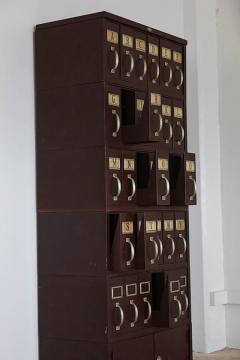 Art Metal Co Vintage Industrial Steel Legal Filing Cabinet With 30 Drawers  By Art Metal