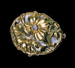 Art Nouveau 18K Diamond Brooch C 1900 - 1241420