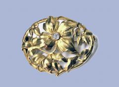 Art Nouveau 18K Diamond Brooch C 1900 - 1241421