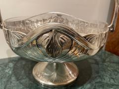Art Nouveau Silver Basket Centerpiece - 1748887