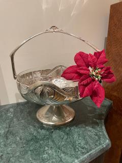 Art Nouveau Silver Basket Centerpiece - 1748901