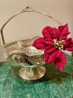 Art Nouveau Silver Basket Centerpiece - 1748910