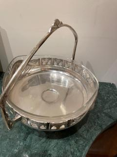 Art Nouveau Silver Basket Centerpiece - 1748944