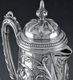 Art Nouveau Silver and Glass Claret Jug Germany C 1900 J Mayers Sohne - 1457591